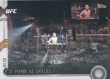 #125 GEORGES ST-PIERRE vs JAKE SHIELDS 2015 Topps UFC Chronicles