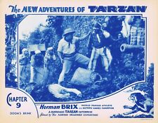 NEW ADVENTURES OF TARZAN 1935 Herman Brix Chapter 9 VINTAGE SERIAL Lobby Card 7