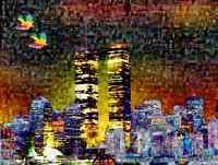 MARIA MURGIA - Alba 11 settembre 2001 - Fotomosaico digitale cm 60x80 + ARCHIVIO