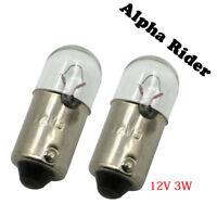 2X For Honda 34902-259-003 12V 3W Speedo Tachometer Speedometer Light Bulb Bulbs