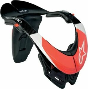 AlpStars Body Armor Protective Carbon Neck Red White Black 6500011-123 Size M