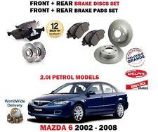 für Mazda 6 2.0i Benzin 2002-2008 NEU Vorder+Bremsscheiben SET HINTEN + Belag