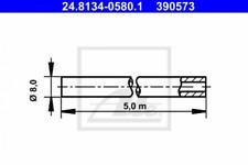 Bremsleitung für Bremsanlage, Universal ATE 24.8134-0580.1