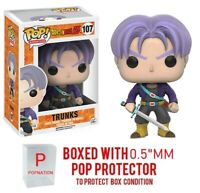 "Funko Pop Dragon Ball Z : TRUNKS #107 Vinyl Figure w/0.5mm Case ""MINT"""