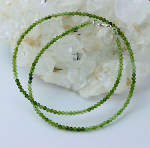 Tourmaline Necklace Precious Stone Color Gradient Green Verdelith 17 5/16in