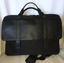 COLE HAAN Microfiber & Leather Laptop Messenger Courier Business School Bag