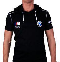 T-shirt à capuche BMW M Power avec poches Sweat brodé Homme Coton Noir Auto M3