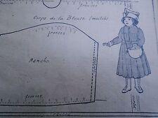 """PATRON ORIGINAL POUR LA POUPEE BLEUETTE """"COSTUME  RECEVEUSE DE TRAMWAY  1919"""