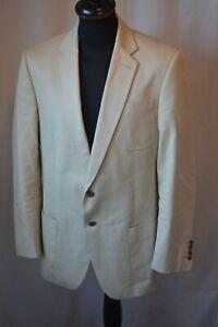 Vintage Gieves & Hawkes beige cotton summer blazer jacket size large 42R
