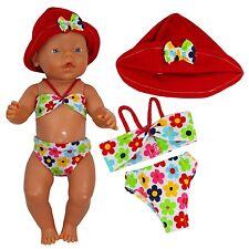 Puppenkleidung Badebekleidung 2-tlg Sommer-Set für Puppe wie z.B. Baby Born