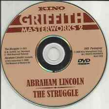 Disc Only: Griffith Masterworks 2 (Abraham Lincoln / The Struggle) Free Shipping