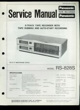 Panasonic RS-828S 8-Track Tape Deck Recorder Orig Factory Service Manual