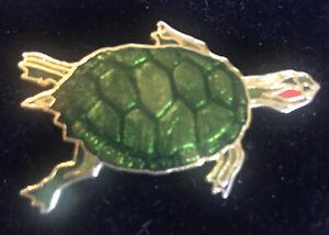 William Spear 1994 Pond Slider Turtle pin brooch