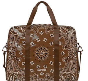 Supreme Bandana Tarp Large Duffle Bag Brown 0S, SS21 WEEK 8 (IN HAND) AUTHENTIC