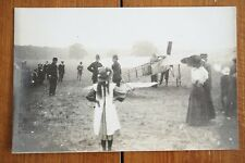 More details for c1910  early aviator airman aviation plane postcard with police