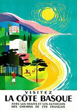 Vacation Holiday Art La Côte Basque Travel  Poster Print
