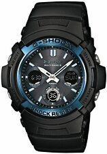 Casio G-shock Black/Blue Mens Watch AWG-M100A-1AER