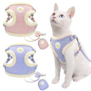 Fleece Pet Cat Walking Harness & Lead & Treat Bag Soft Warm Puppy Jacket Vest