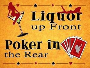 Liquor up Front Poker in the Rear funny fridge magnet   (og)
