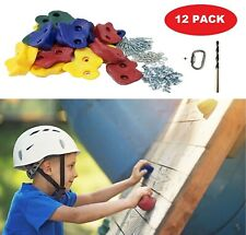 12 Pack Kids Climbing Rocks With Hardware Climbing Holds Rock Wall for Kids