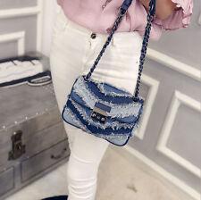 Women Denim Casual Single Shoulder Bag Messenger Bags Cross Body Pack Fashion