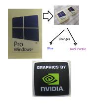 Nuevo NVIDIA Libre Etiqueta Engomada de la computadora Windows 8 PC 10 Genuino 7 Base de Escritorio Laptop