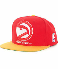 MITCHELL & NESS NBA HAWKS XL LOGO RED SNAPBACK HAT/CAP 100% AUTHENTIC NEW!!