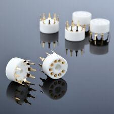10pcs Ceramic  9 pin pcb mount Vakuum-Audio-Röhren socket for 12AX7 6DJ8 EL84