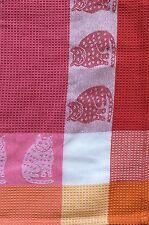 Cat Kitchen Towel | Cotton Waffle Weave | Raspberry Pink Orange | Pictorial