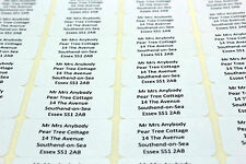65 PERSONALISED CLEAR LABELS 21mm X 38mm - MINI LABELS