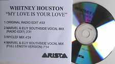 WHITNEY HOUSTON CD My Love Is Your Love 4 TRACK UK PROMO +SKR ACETATE Rare REMIX