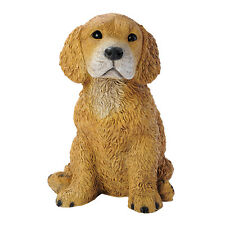 Puppy Dog: Golden Retriever Man's Best Friend Sculpture for Home or Garden