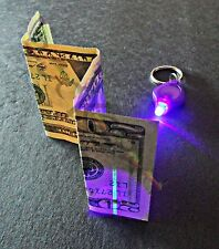 10x UV Blacklight LED KeyChain- Super Bright Bill Checker, Charges Glow i/t Dark
