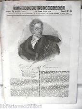 ANTICA STAMPA INCISIONE 1843 Leopoldo Cicognara Ispirati d Oriente Catania di e