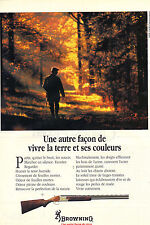 PUBLICITE ADVERTISING 1991   BROWNING     fusil de chasse