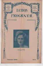 ECHOS-PROGRAMME n°95 ROLLETTE Marie-Louise Iribe LA DOULEUREUSE MEPRISE 1924