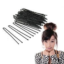 50pcs/lot Professional Alloy Thin U Shape Hair Bobby Pin Black Clips NEW LI