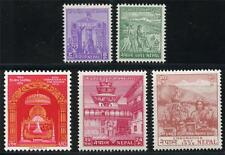 NEPAL SCOTT# 84-88 MINT NEVER HINGED AS SHOWN CR