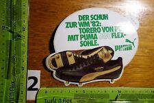 Alter Aufkleber Sportschuhe Sportshoes Sneakers Sportswear PUMA WM 1982 (BO)