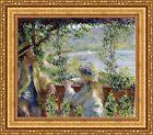 """Pierre Auguste Renoir By the Water (Near the Lake) Framed 27""""x23.5"""" (V02-19)"""