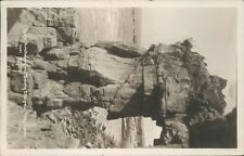 Real photo; Heysham Rock archway fairy chapel matthews of bradford 1927
