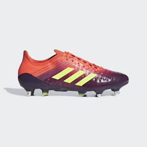 New Adidas Predator Malice Control SG Rugby Cleats 10.5 Purple Red Orange BB7974