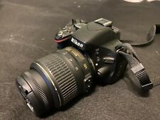 Nikon D5100 Camera With DX  Afs 18-55mm Lens Case Battery Charger Manual
