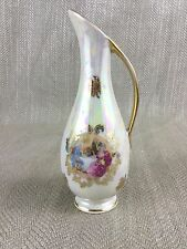 Miniature Jug Ornament Limoges Style Fragonard Hand Painted Luster Vintage