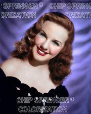 DEANNA DURBIN against Purple Curtain | 8X10 Color Photo by CHIP SPRINGER