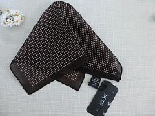 BNWoT HUGO BOSS Brown Ivory 100% Wool Pocket Square Handkerchief Hankie