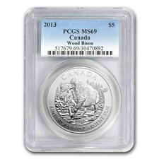 New 2013 Canadian Silver Wood Bison 1oz PCGS MS69 Graded Slab Coin