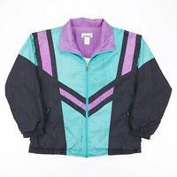 Vintage LAVON  Black 90s Nylon Casual Shell Jacket Womens M