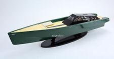 118 Wally Power Luxury Motor Yacht - Handcrafted Wooden Race Boat Model