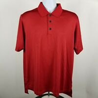 Adidas Clima Cool Mens Polyester Red Adult Golf Polo Shirt Sz Medium M